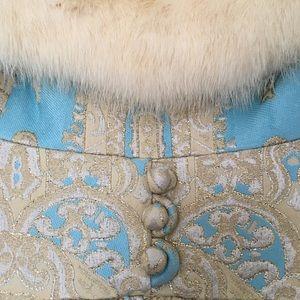 Vintage Lillie Rubin Maxi Dress Fur Collar Small